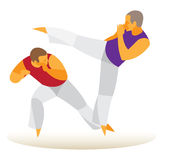 Brazilian Martial Arts. a file of men Royalty Free Stock Images