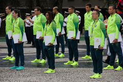 Brazilian military athletes won 75% of Olympic medals among Brazilian athletes Royalty Free Stock Photography