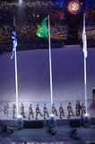 The Brazilian military force at Rio2016 colsing ceremonies Stock Photo