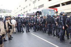 Brazilian military forces during Olympic torch relay Royalty Free Stock Images