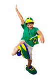 Brazilian mirim fan kicking Royalty Free Stock Photos