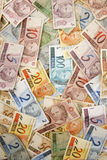 Brazilian money background Royalty Free Stock Photo