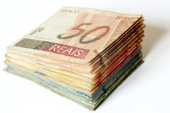 Brazilian money pile Stock Photos