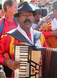 Brazilian Musician at Popular Pilgrimage Stock Images