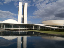Brazilian National Congress. DF, Brazil Stock Photo