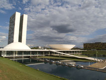 Brazilian National Congress. DF, Brazil Royalty Free Stock Photo