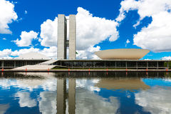 Brazilian National Congress in Brasilia, Brazil.  Royalty Free Stock Images