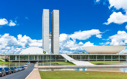 Brazilian National Congress in Brasilia, Brazil Royalty Free Stock Image