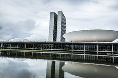 Brazilian National Congress in Brasilia, Brazil Royalty Free Stock Images