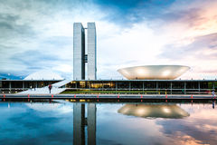 Brazilian National Congress in Brasilia, Brazil.  Royalty Free Stock Photos