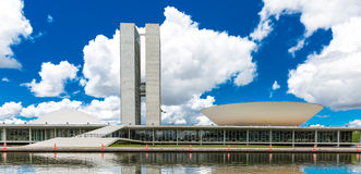 Brazilian National Congress in Brasilia, Brazil.  Stock Images