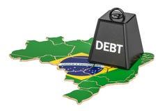 Brazilian national debt or budget deficit, financial crisis conc Stock Image