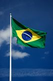 Brazilian national flag Royalty Free Stock Image