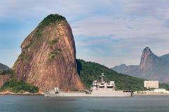 Brazilian Navy Battleship in Rio de Janeiro Stock Photos