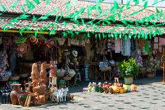 Brazilian Northeast handicraft. ARACAJU, BRAZIL - JUNE 6, 2014: Brazilian handicraft at market, in Aracaju - Sergipe Royalty Free Stock Photos