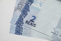 Brazilian notes Real royalty free stock photo