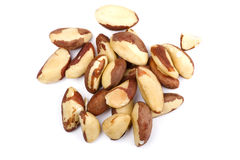 The Brazilian nut on white Stock Photo