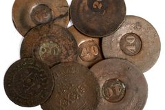 Brazilian Old Coin Stock Images