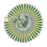 Brazilian paper money two hundred cruzeiros as background and te Royalty Free Stock Image
