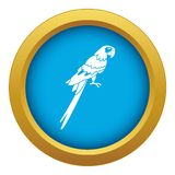 Brazilian parrot icon blue vector isolated. On white background for any design royalty free illustration