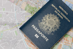 Brazilian Passport Stock Photography