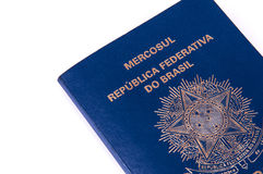Brazilian Passport on white background Royalty Free Stock Images