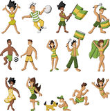 Brazilian people having fun Stock Images