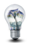 Brazilian Peso Lightbulb Stock Photography