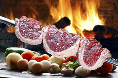 Brazilian Picanha on a skewer Stock Images