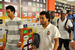 Brazilian plaers of Shakhtar team Stock Photography