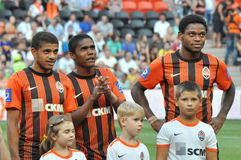 Brazilian players of Shakhtar Stock Photography