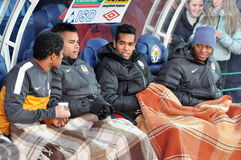 Brazilian players team Shakhtar Stock Photo