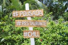Brazilian Pousada Sign Nordeste Bahia Beach Royalty Free Stock Photo