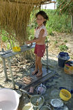 Brazilian poverty of landless girl Royalty Free Stock Photography