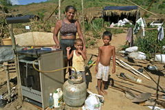 Brazilian poverty for mother with children Royalty Free Stock Image