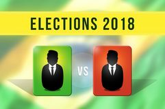 Brazilian Presidential elections in 2018. Choice between both candidates. Candidate vs candidate vector illustration