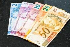 Brazilian reais banknotes Royalty Free Stock Photography