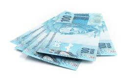 Brazilian real banknotes Stock Photos