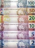 Brazilian real Bills Background Stock Photos