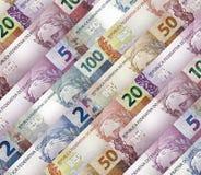 Brazilian real Bills Background Stock Image
