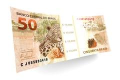 Brazilian Real bills Stock Image
