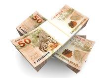 Brazilian Real bills Royalty Free Stock Photography