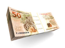 Brazilian Real bills Royalty Free Stock Images