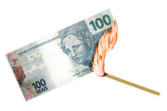 Brazilian Real Burn Royalty Free Stock Photography