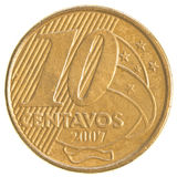 10 Brazilian real centavos coin Stock Images