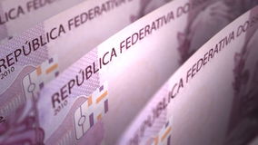Brazilian Real Close-up Stock Image
