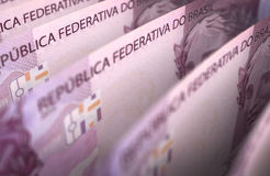 Brazilian Real Closeup Stock Image