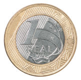 Brazilian real coin Royalty Free Stock Images