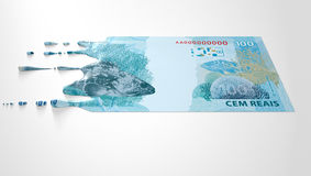 Brazilian Real Melting Dripping Banknote Royalty Free Stock Image