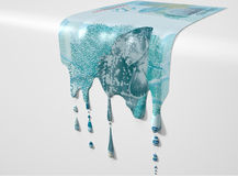 Brazilian Real Melting Dripping Banknote Stock Image